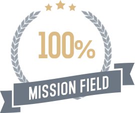 100% goes to mission field